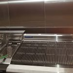 Ansul system installed in a restaurant by fryers